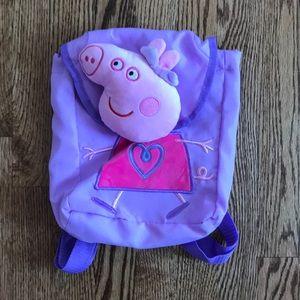 New Peppa Pig Purple Backpack